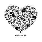Het concept van de liefdemuziek royalty-vrije illustratie