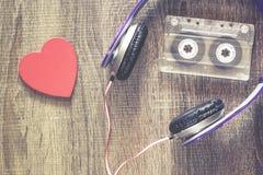 Het concept van de liefdemuziek stock foto