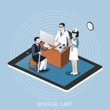 Het concept van de medische behandeling Stock Fotografie