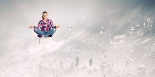 Het concept van de meditatie Royalty-vrije Stock Afbeeldingen