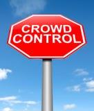 Het concept van de menigtecontrole. Royalty-vrije Stock Afbeelding