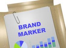 Het concept van de merkteller Stock Foto