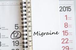 Het concept van de migrainetekst Stock Afbeelding