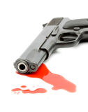 Het concept van de moord - kanon en bloed royalty-vrije stock fotografie