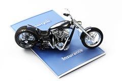 Het concept van de motorfietsverzekering Stock Foto