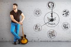Het concept van de muziektijd Stock Foto's