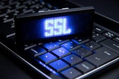 Het Concept van de netwerkveiligheid Internet-Veiligheidstechnologieën stock foto