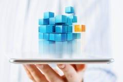 Het concept van de nieuwe technologieintegratie Gemengde media Royalty-vrije Stock Afbeelding