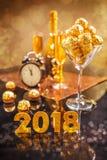 2018 het concept van de nieuwjaar` s viering Stock Foto's
