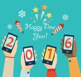 Het concept van de nieuwjaarvakantie Stock Fotografie