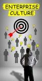 Het concept van de ondernemingscultuur door een zakenman wordt gelet op die royalty-vrije stock foto