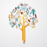 Het Concept van de onderwijskrabbel Stock Afbeelding