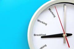 Het concept van de ontbijttijd Stock Afbeelding