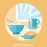 Het concept van de ontbijttijd Stock Afbeeldingen