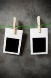 Het concept van de ontwerper - lege fotoframes Stock Foto's