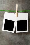Het concept van de ontwerper - lege fotoframes Royalty-vrije Stock Fotografie
