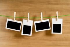 Het concept van de ontwerper - lege fotoframes Stock Fotografie