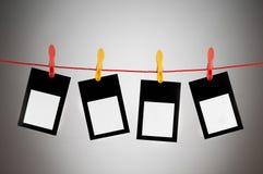 Het concept van de ontwerper - lege fotoframes Stock Afbeeldingen