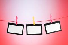 Het concept van de ontwerper - lege fotoframes Royalty-vrije Stock Foto's
