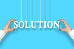 Het concept van de oplossing Stock Foto's