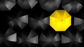 Het concept van de paraplu Stock Afbeeldingen