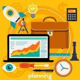 Het concept van de planning Stock Afbeeldingen