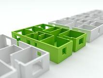 Het concept van de het planverhoging van de huisflat 3d geef terug Royalty-vrije Stock Foto