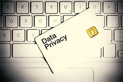 Het Concept van de Privacy van gegevens stock foto's
