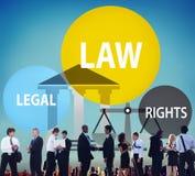 Het Concept van de Rechtersjudgement punishment judicial van wetswettelijke rechten royalty-vrije stock fotografie