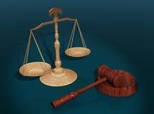 Het concept van de rechtvaardigheid. Royalty-vrije Stock Foto's