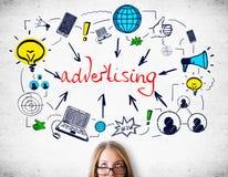 Het concept van de reclame Stock Fotografie
