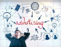 Het concept van de reclame royalty-vrije stock afbeelding