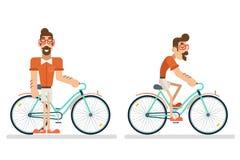 Het Concept van de de Reislevensstijl van Geek Hipster van de ritfiets de ycling van het de Vakantietoerisme van de Planningszome vector illustratie