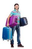 Het concept van de reisvakantie met bagage Stock Foto's