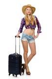 Het concept van de reisvakantie met bagage Stock Afbeelding