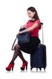 Het concept van de reisvakantie met bagage Stock Afbeeldingen