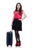 Het concept van de reisvakantie met bagage Royalty-vrije Stock Afbeeldingen