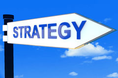 Het concept van de richtingstekens van de strategieweg stock afbeeldingen