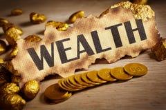 Het concept van de rijkdom Royalty-vrije Stock Fotografie