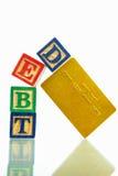 Het concept van de schuld Stock Foto