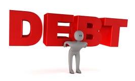Het concept van de schuld vector illustratie