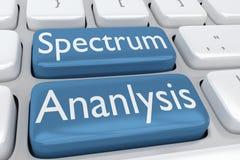 Het concept van de spectrumanalyse royalty-vrije illustratie
