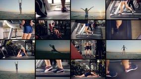 Het concept van de sport Zijnd geschikt multiscreen montering stock videobeelden