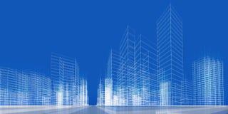 Het concept van de stad Stock Foto's