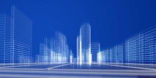 Het concept van de stad Stock Afbeelding