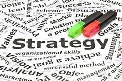 Het concept van de ?strategie? Stock Fotografie