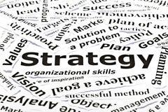 Het concept van de ?strategie? met andere verwante woorden Stock Foto's