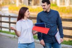 Het concept van de studentenvriendschap stock foto