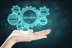 Het concept van de succesgrafiek Stock Afbeelding