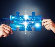 Het concept van de systeemintegratie Stock Foto